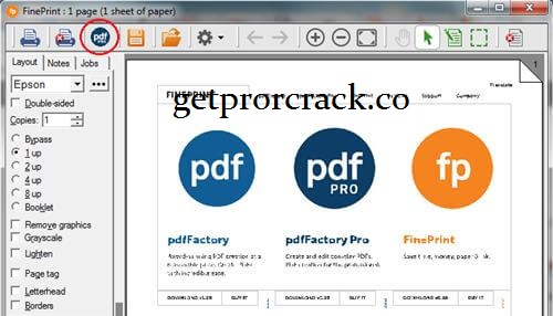 pdfFactory Pro 7.46 Crack