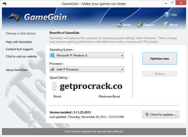 PGWARE GameGain v4.1.11.2021 Full Version Crack Free Download