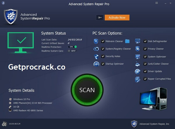 Advanced System Repair Pro Crack v1.9.4.1 + License Key With Keygen