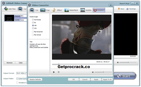 GiliSoft Video Converter Crack v11.1.0 With Patch + Serial Key [Latest 2021]